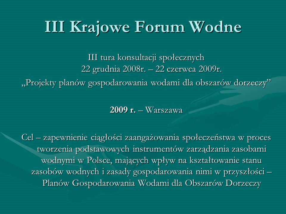 III Krajowe Forum Wodne