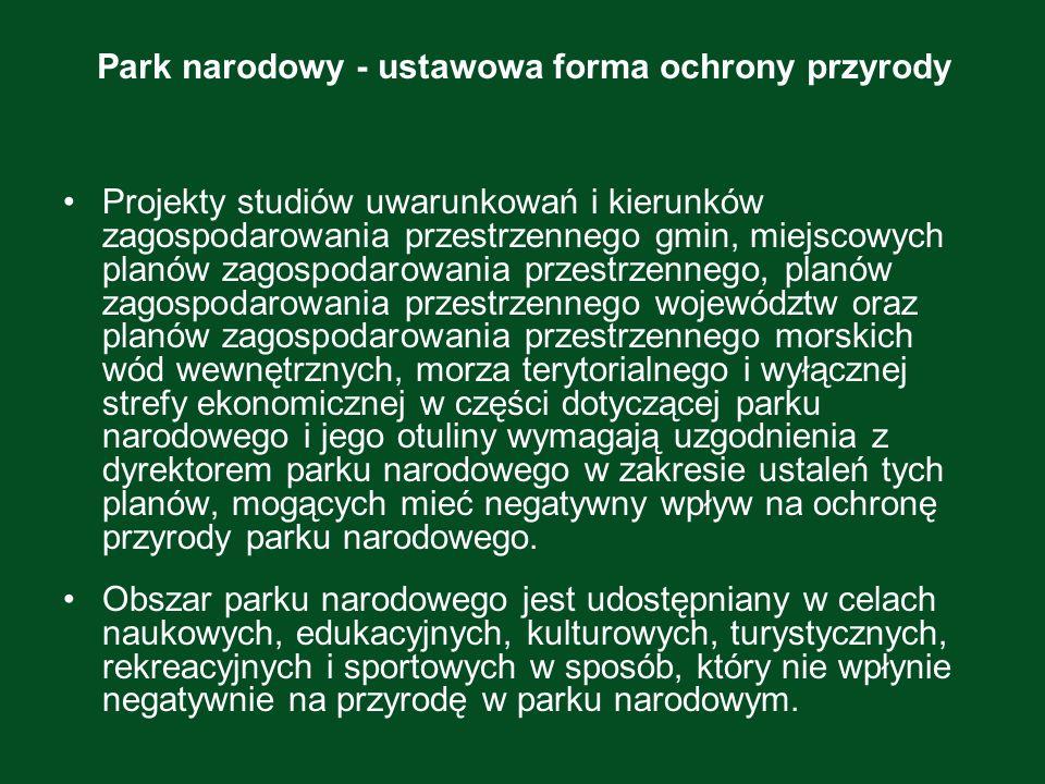 Park narodowy - ustawowa forma ochrony przyrody