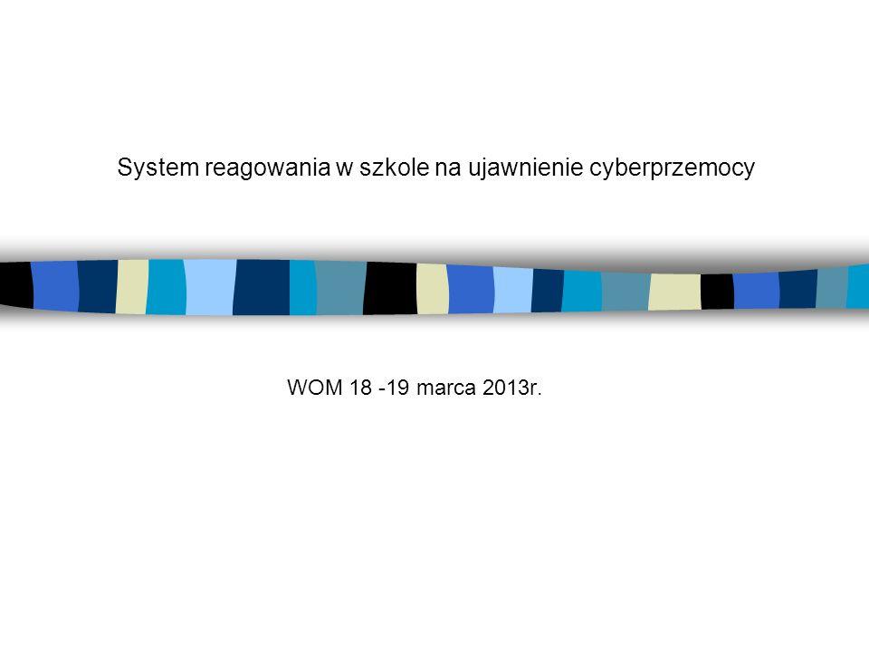 System reagowania w szkole na ujawnienie cyberprzemocy