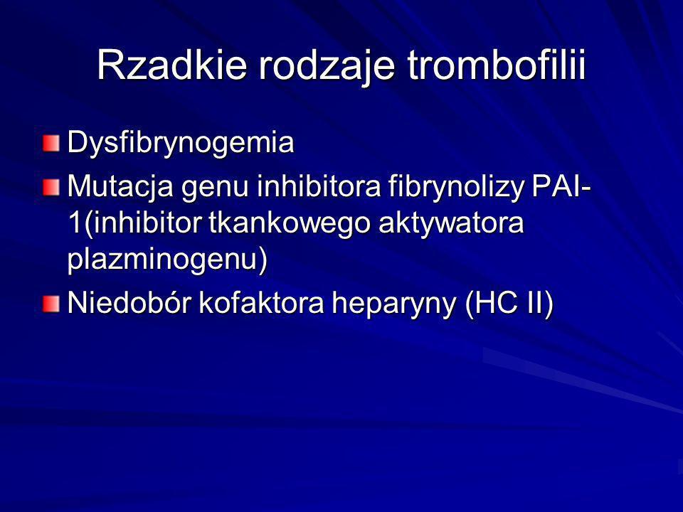 Rzadkie rodzaje trombofilii