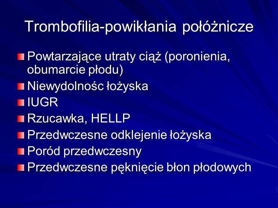 Trombofilia-powikłania połóżnicze