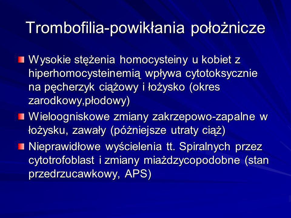 Trombofilia-powikłania położnicze