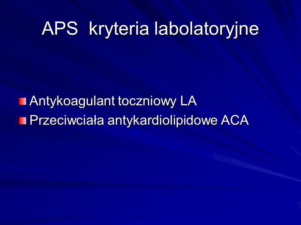 APS kryteria labolatoryjne