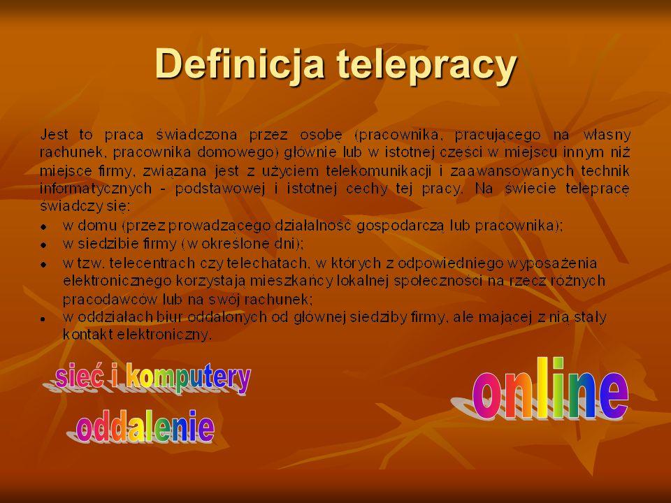 Definicja telepracy online sieć i komputery oddalenie