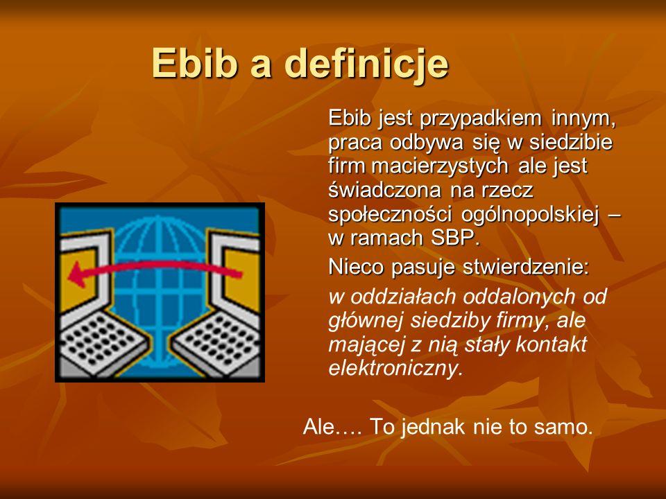 Ebib a definicje Nieco pasuje stwierdzenie: