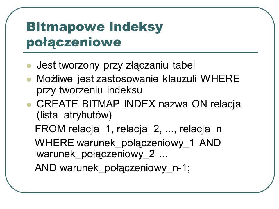 Bitmapowe indeksy połączeniowe