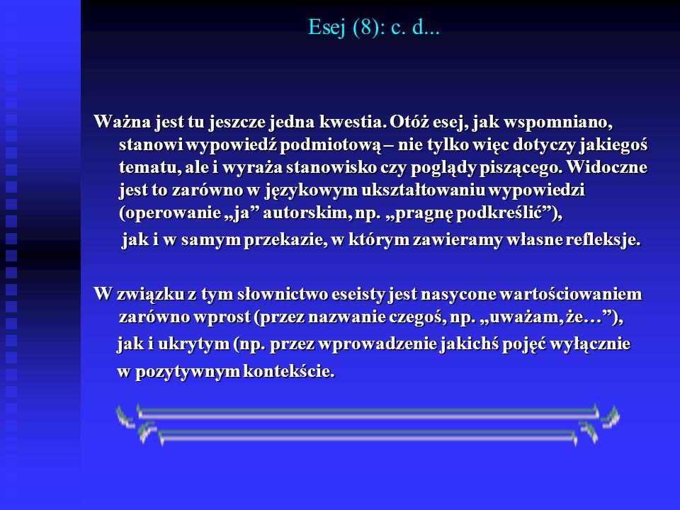 Esej (8): c. d...