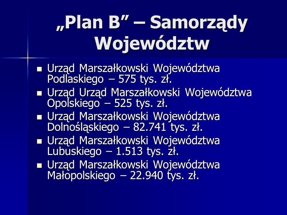 """""""Plan B – Samorządy Województw"""