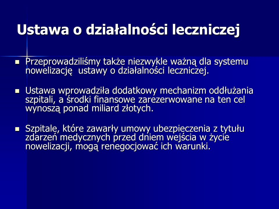 Ustawa o działalności leczniczej