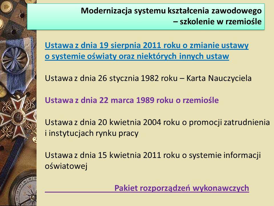 Modernizacja systemu kształcenia zawodowego – szkolenie w rzemiośle