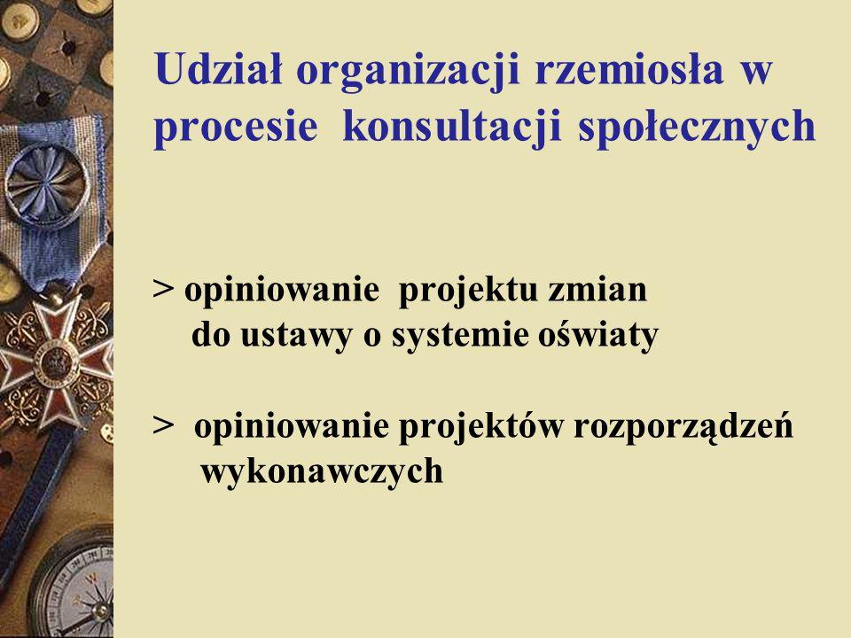 Udział organizacji rzemiosła w procesie konsultacji społecznych > opiniowanie projektu zmian do ustawy o systemie oświaty > opiniowanie projektów rozporządzeń wykonawczych