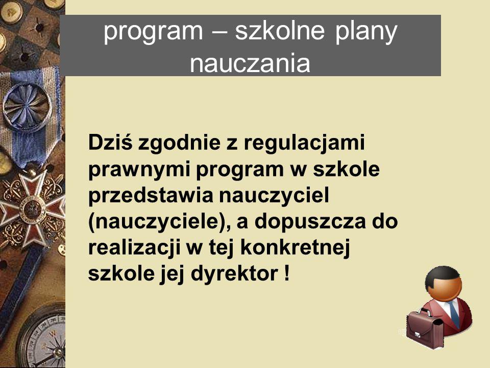 program – szkolne plany nauczania