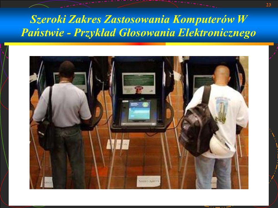 Szeroki Zakres Zastosowania Komputerów W Państwie - Przykład Głosowania Elektronicznego