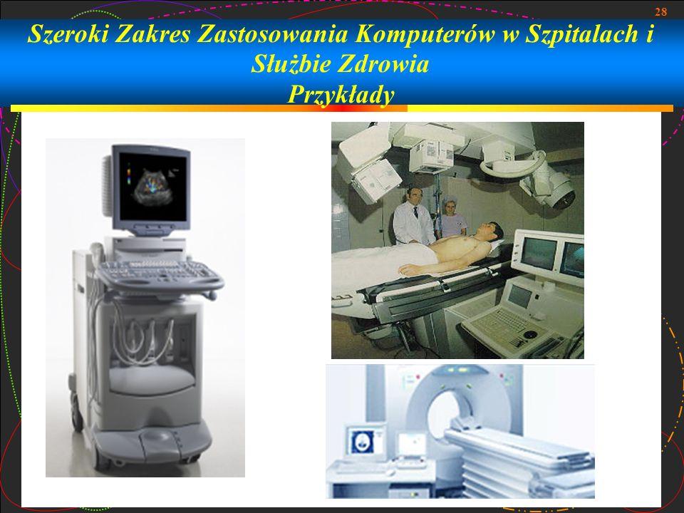 Szeroki Zakres Zastosowania Komputerów w Szpitalach i Służbie Zdrowia Przykłady