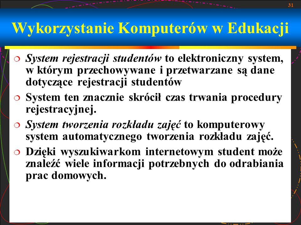 Wykorzystanie Komputerów w Edukacji