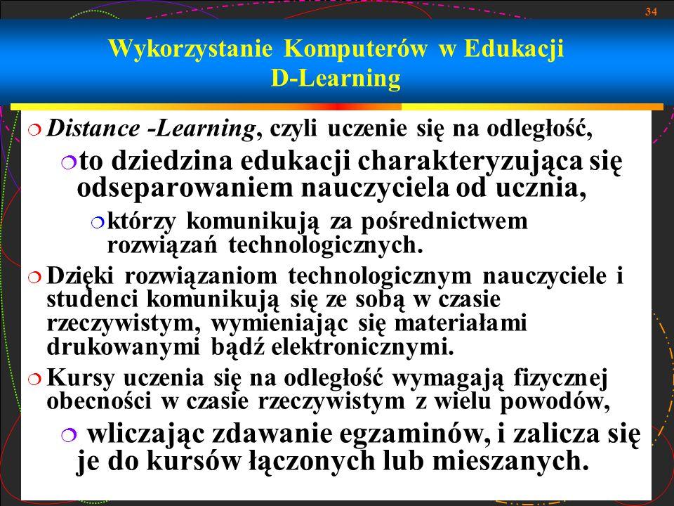 Wykorzystanie Komputerów w Edukacji D-Learning