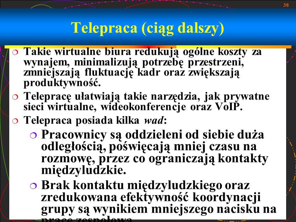 Telepraca (ciąg dalszy)