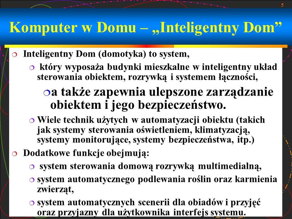 """Komputer w Domu – """"Inteligentny Dom"""