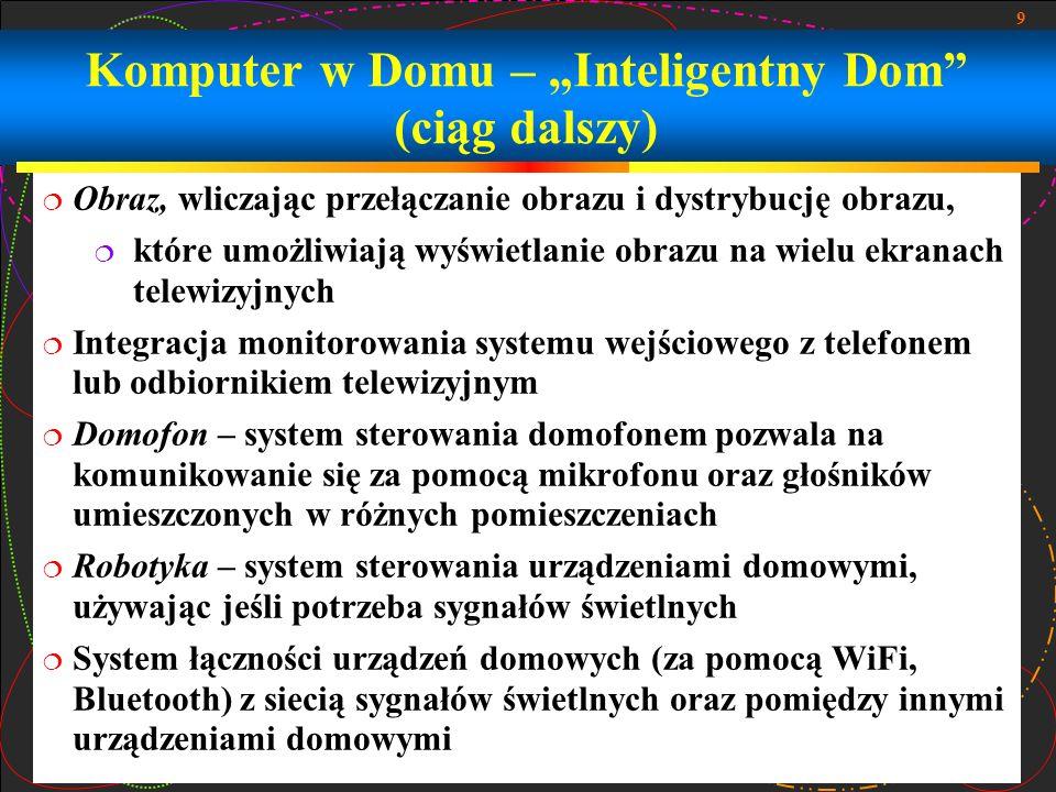 """Komputer w Domu – """"Inteligentny Dom (ciąg dalszy)"""