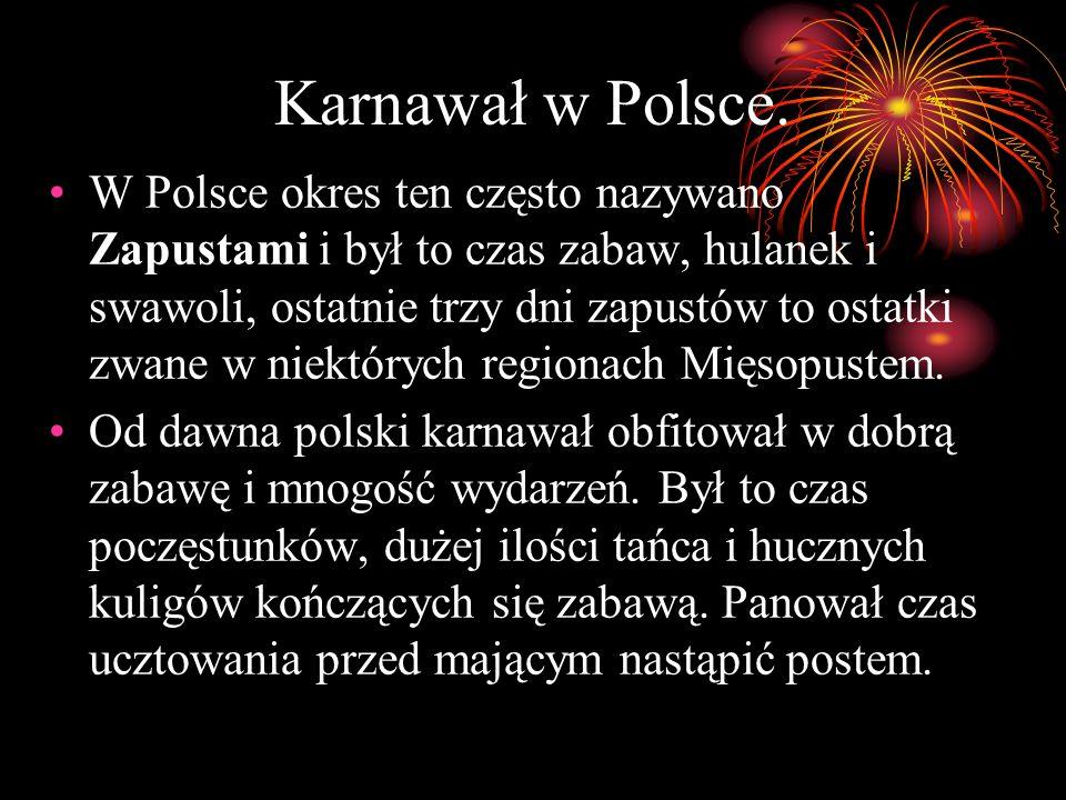 Karnawał w Polsce.