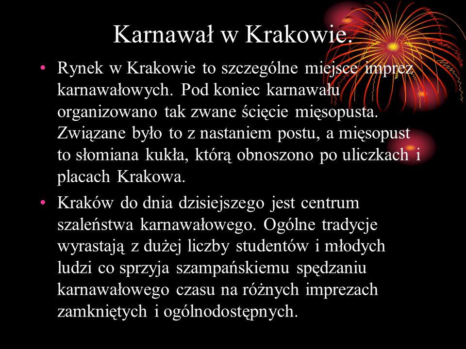 Karnawał w Krakowie.