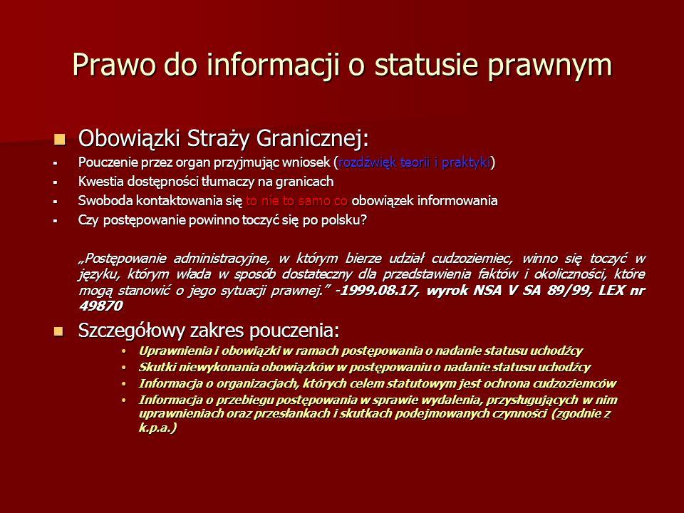 Prawo do informacji o statusie prawnym