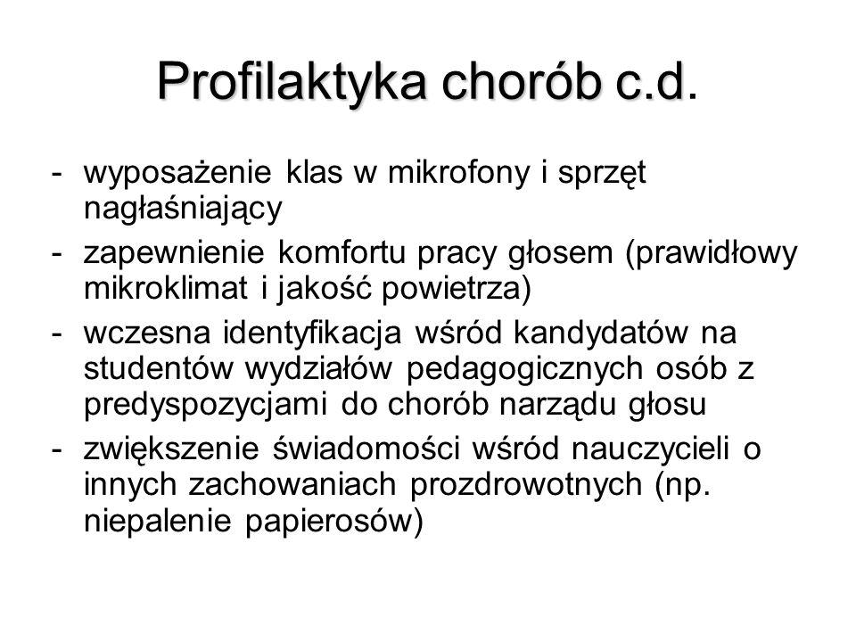 Profilaktyka chorób c.d.