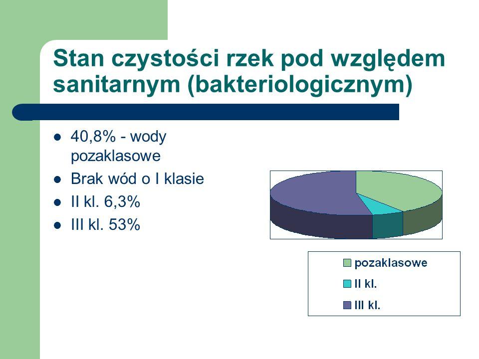 Stan czystości rzek pod względem sanitarnym (bakteriologicznym)