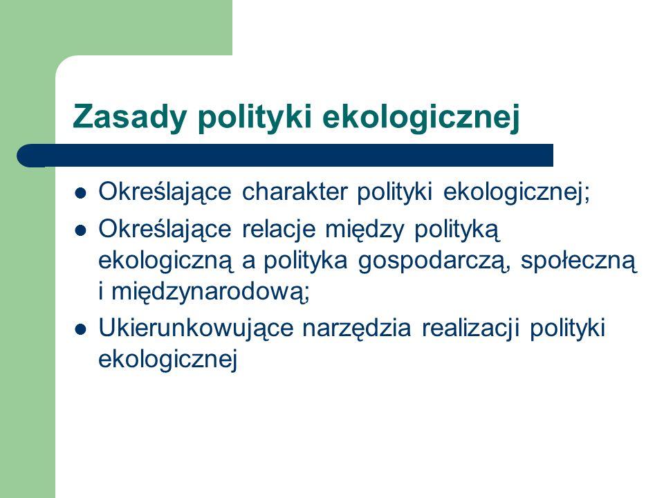 Zasady polityki ekologicznej