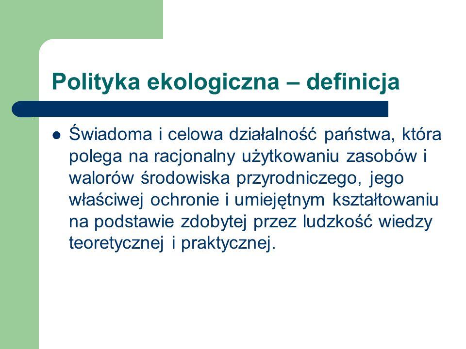Polityka ekologiczna – definicja