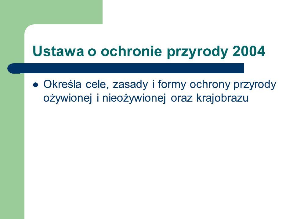 Ustawa o ochronie przyrody 2004