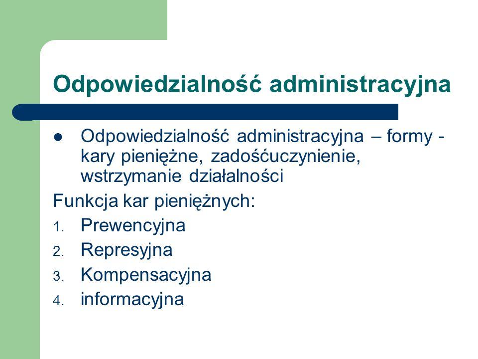 Odpowiedzialność administracyjna