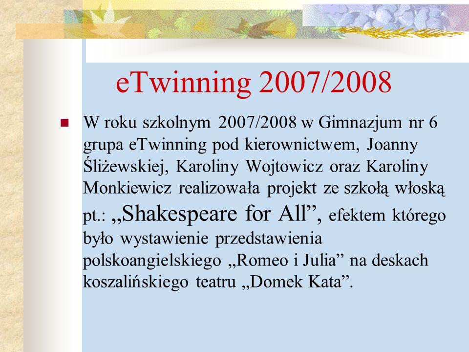 eTwinning 2007/2008
