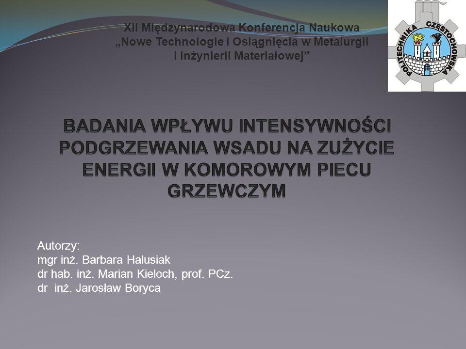 """XII Międzynarodowa Konferencja Naukowa """"Nowe Technologie i Osiągnięcia w Metalurgii i Inżynierii Materiałowej"""