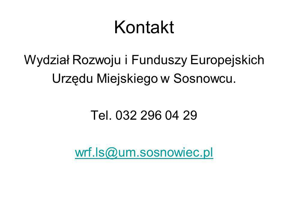 Kontakt Wydział Rozwoju i Funduszy Europejskich