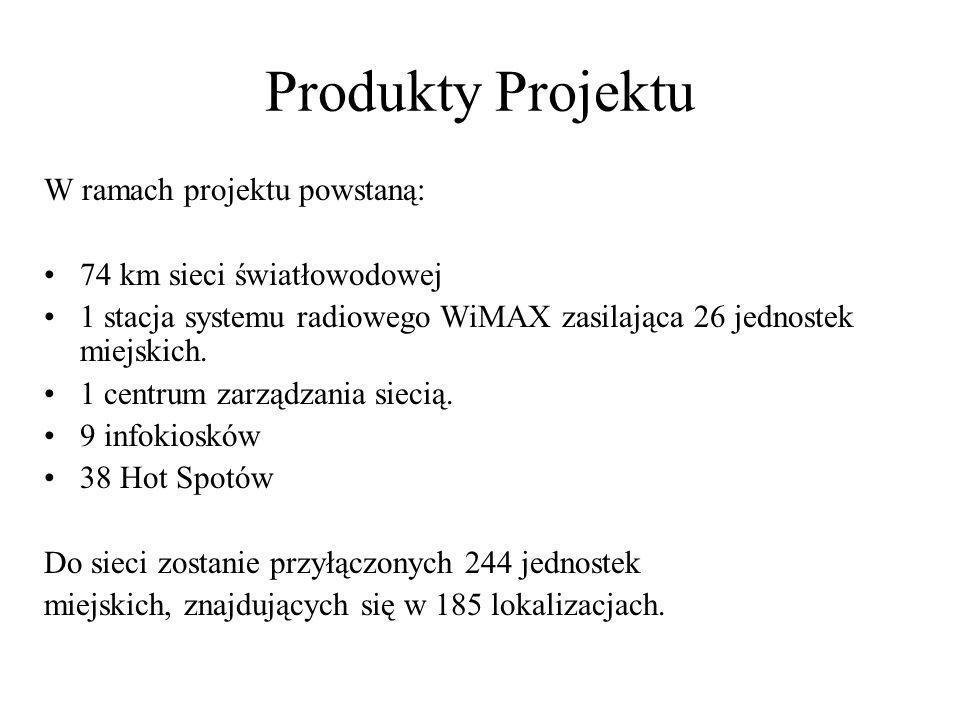 Produkty Projektu W ramach projektu powstaną: