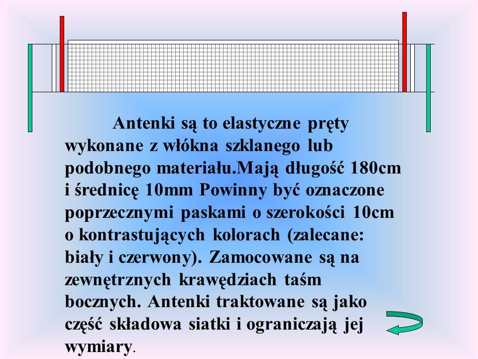 Antenki są to elastyczne pręty wykonane z włókna szklanego lub podobnego materiału.Mają długość 180cm i średnicę 10mm Powinny być oznaczone poprzecznymi paskami o szerokości 10cm o kontrastujących kolorach (zalecane: biały i czerwony).
