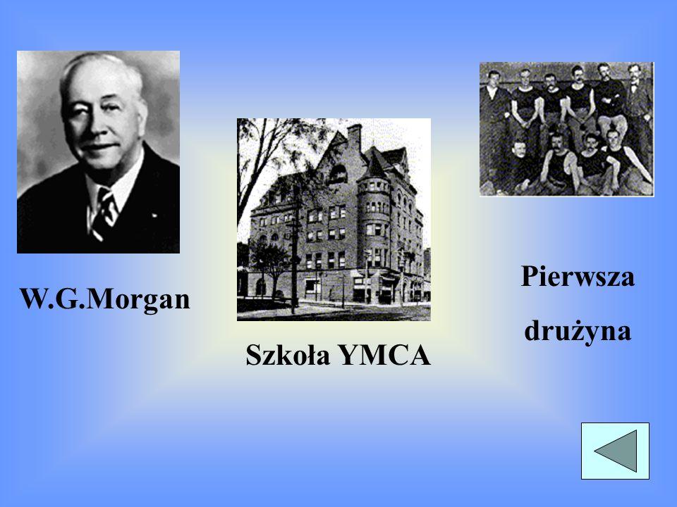 Pierwsza drużyna W.G.Morgan Szkoła YMCA