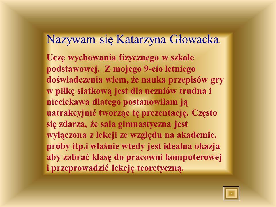 Nazywam się Katarzyna Głowacka.
