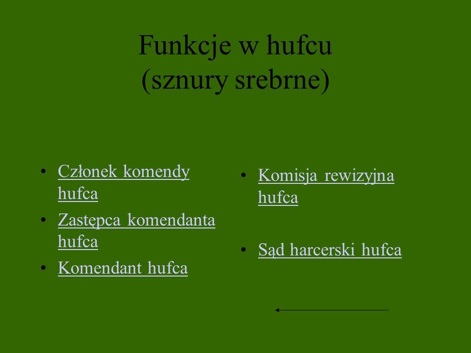 Funkcje w hufcu (sznury srebrne)