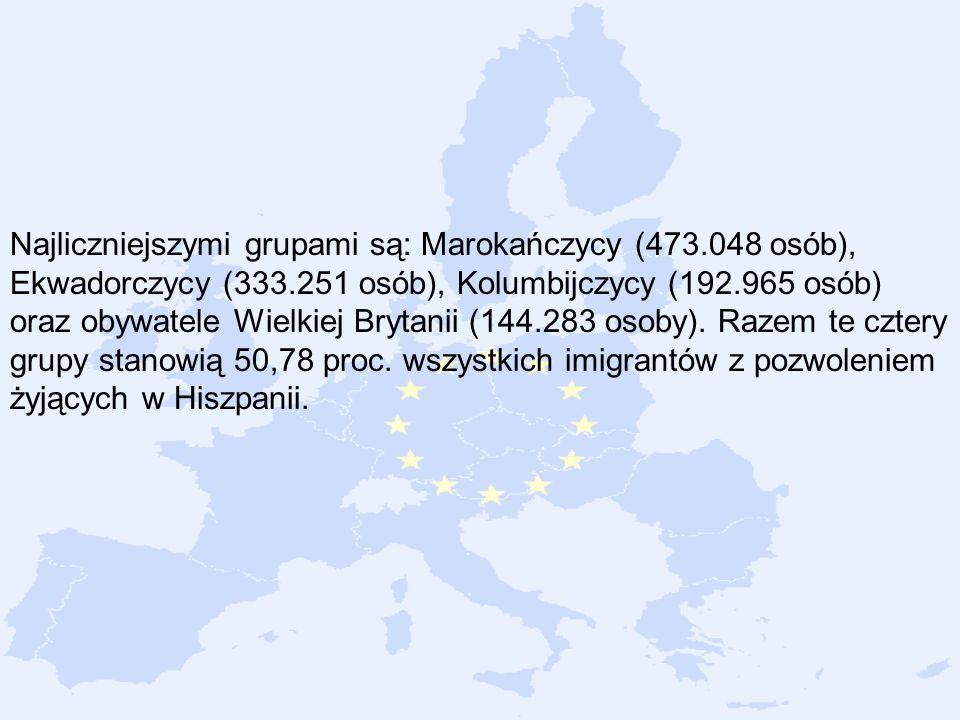 Najliczniejszymi grupami są: Marokańczycy (473