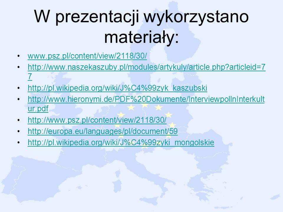 W prezentacji wykorzystano materiały: