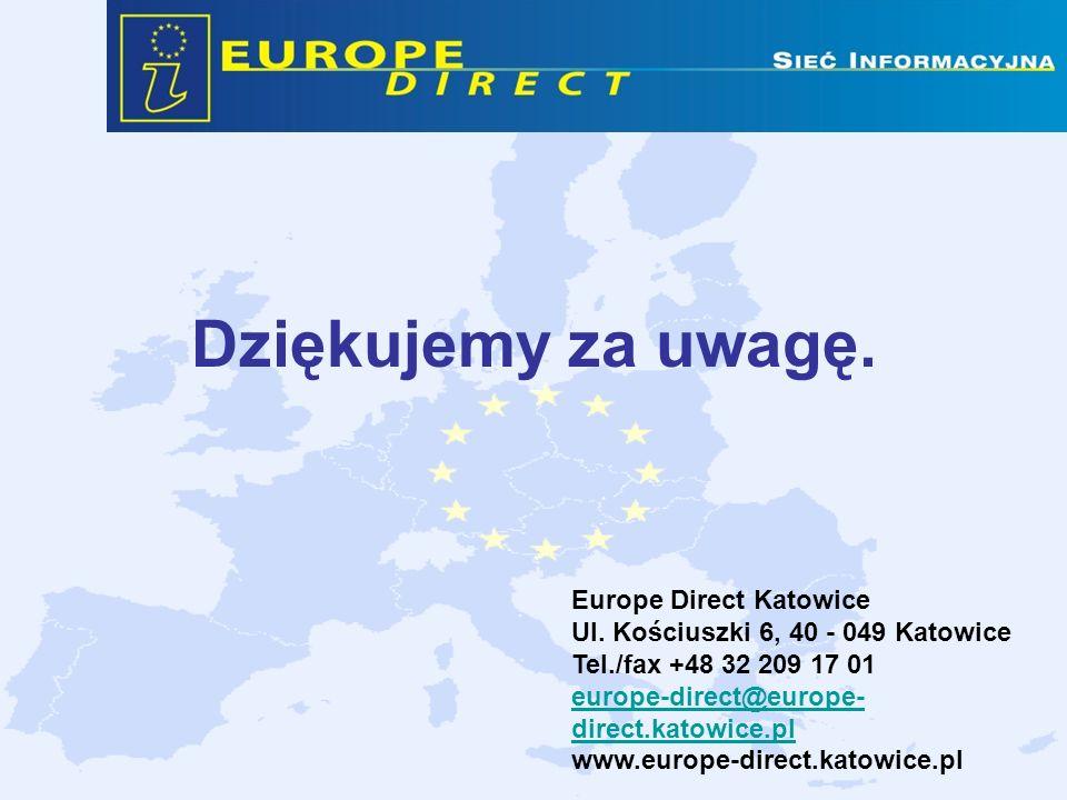Dziękujemy za uwagę. Europe Direct Katowice