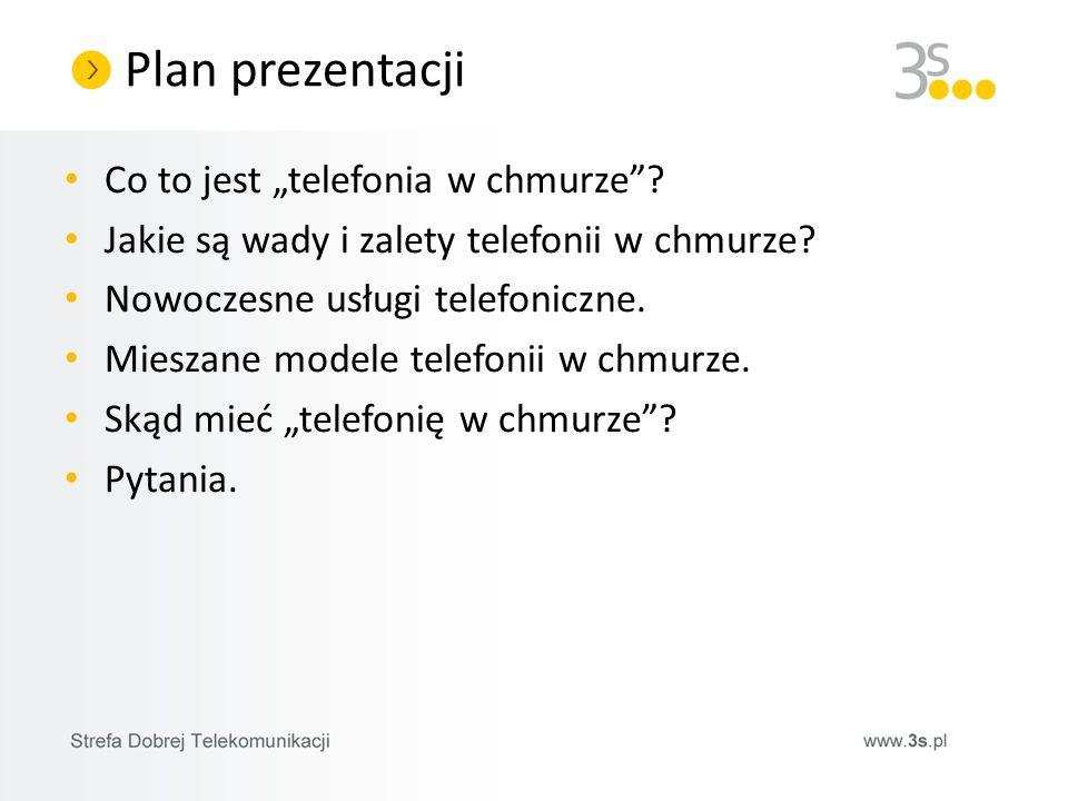 """Plan prezentacji Co to jest """"telefonia w chmurze"""