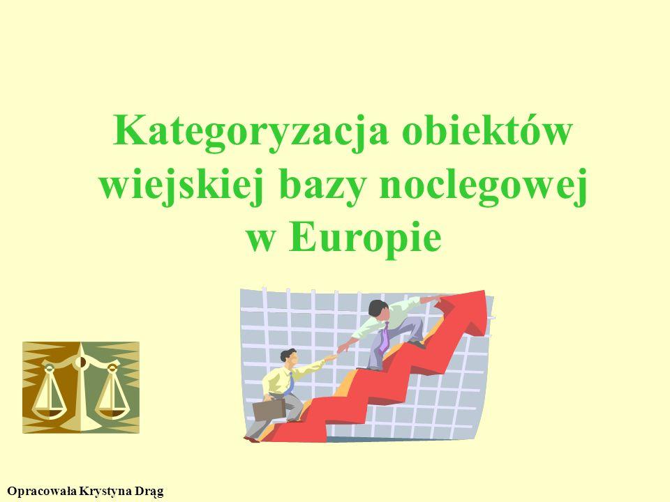 Kategoryzacja obiektów wiejskiej bazy noclegowej w Europie