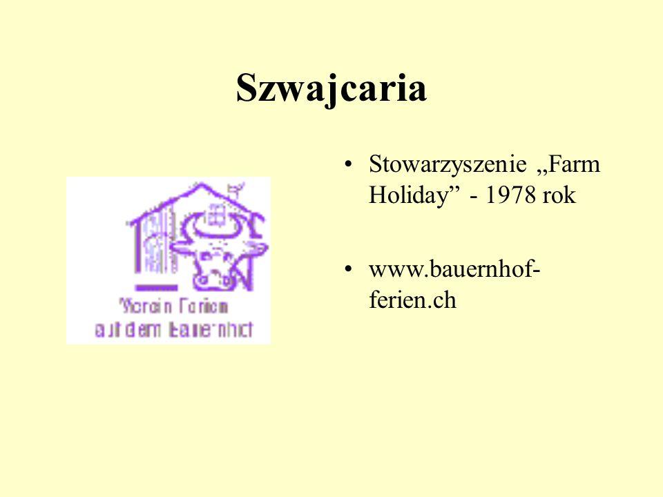 """Szwajcaria Stowarzyszenie """"Farm Holiday - 1978 rok"""