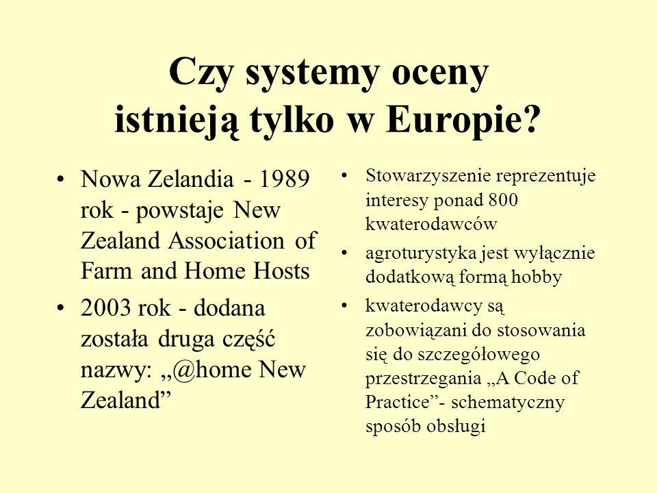 Czy systemy oceny istnieją tylko w Europie