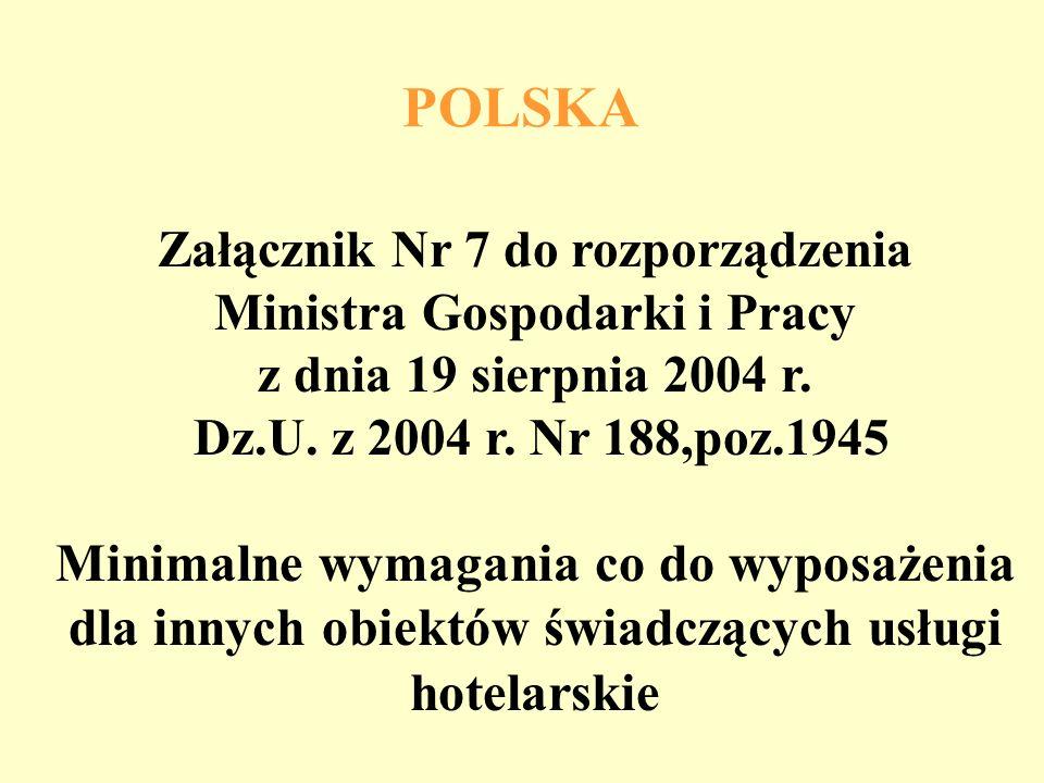 POLSKA Załącznik Nr 7 do rozporządzenia Ministra Gospodarki i Pracy z dnia 19 sierpnia 2004 r. Dz.U. z 2004 r. Nr 188,poz.1945