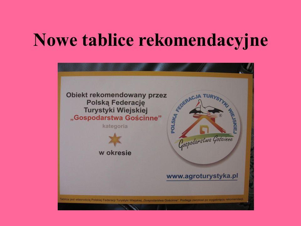 Nowe tablice rekomendacyjne