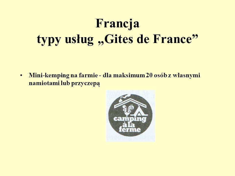 "Francja typy usług ""Gites de France"